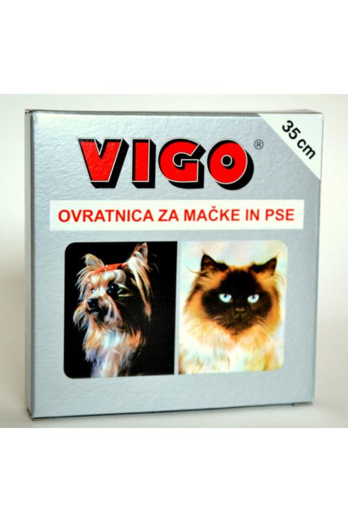 Ovratnica za pse in mačke proti bolham Vigo (35 cm)