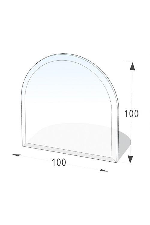Steklena talna plošča, Lienbacher (polkrožni lok, 100 x 100 cm)