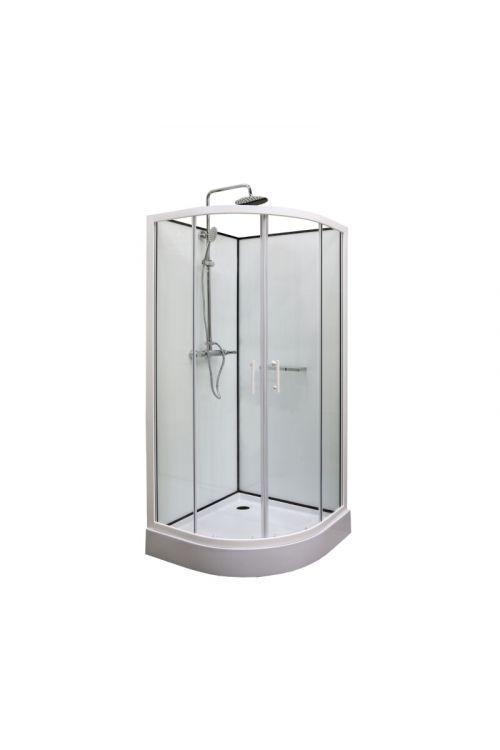 Kompletna tuš kabina Bianca (90 x 90 x 195 cm, steklo: 5 mm)