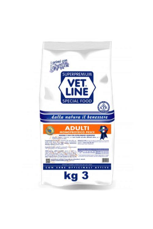 Briketi za pse Vet Line (3 kg, riba)