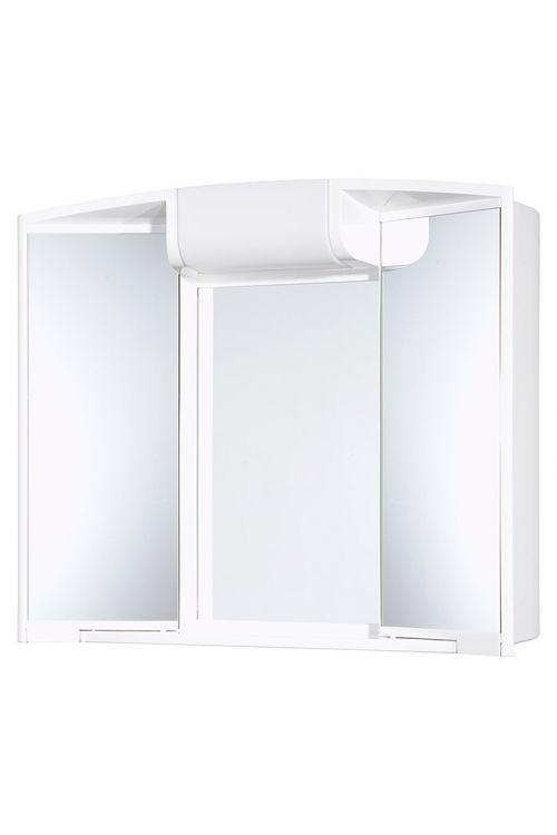 Omarica z ogledalom Jokey Angy (59 x 50 x 15 cm, bela, z osvetlitvijo (sijalka E14 ni priložena)