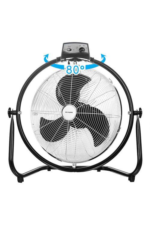 Talni ventilator Proklima (120 W, Ø 45 cm, 3 hitrosti delovanja, črn/srebrn)