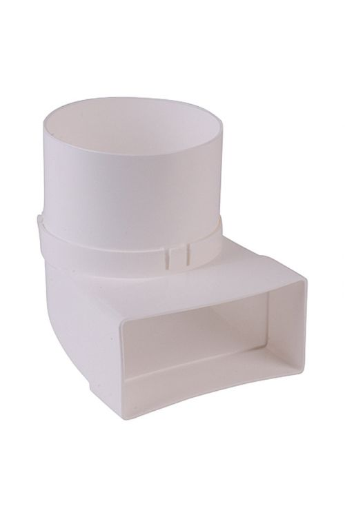 Preusmerjevalna cev ploščatega kanala Air-Circle (mere priključnega nastavka: 111 x 54 mm, premer priključnega nastavka: 100 mm)