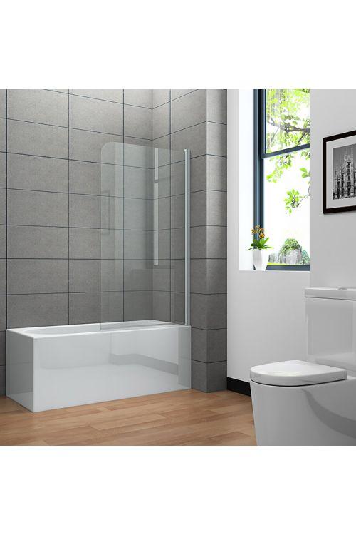 Stena za kopalno kad Clear 75 cm (75 x 130 cm, enodelna, bel profil, steklo: 4 mm)