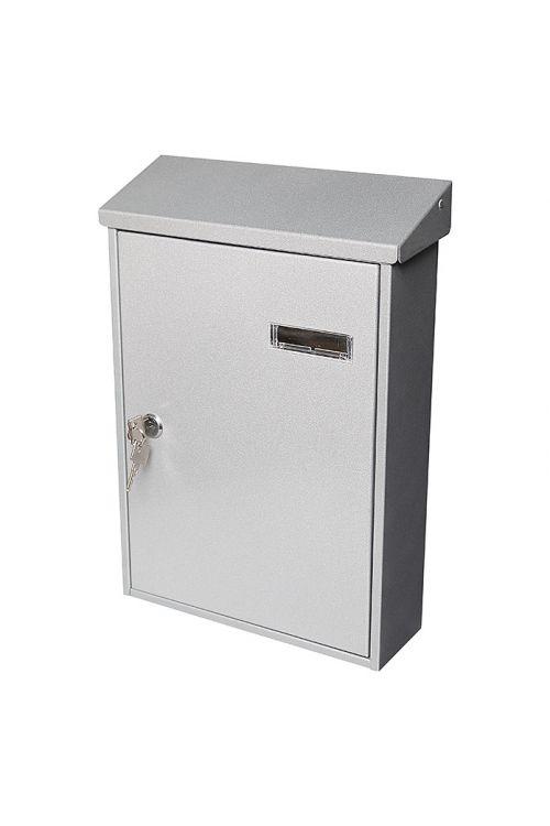 Poštni nabiralnik LED Portaferm 33 (9,2 x 27 x 37 cm, kovinski, srebrn)