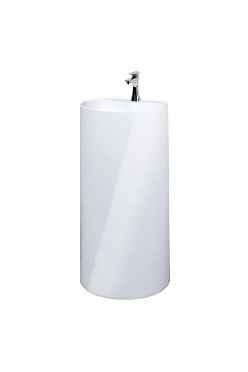 Umivalnik Rondo Minera Camargue (Ø x V: 45 cm x 90 cm, mineralna litina, bela)