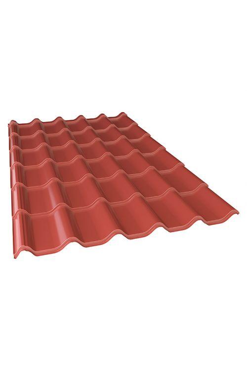 Kovinska opeka (rdeča, jeklena pločevina, 216 cm x 117 cm x 0,5 mm)