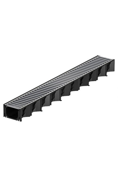 Kanaleta ACO Self Hexaline (črna, 100 x 12,5 x 7,8 cm)
