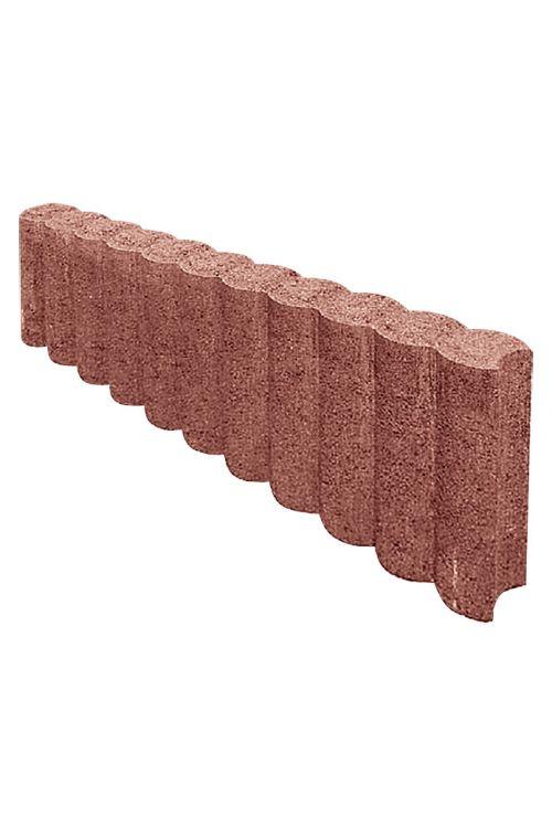Robnik za palisado (50 x 6 x 15 cm, beton, rdečo-rjav)
