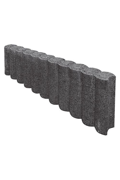 Robnik za palisado (50 x 6 x 15 cm, beton, antracitne barve)