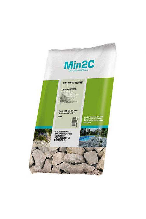 Okrasno kamenje (bež, 30-60 mm, 25 kg)