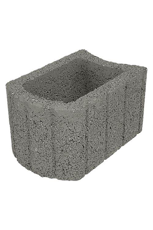 Večnamenski robnik (siv, beton, 33 x 24 x 20 cm)