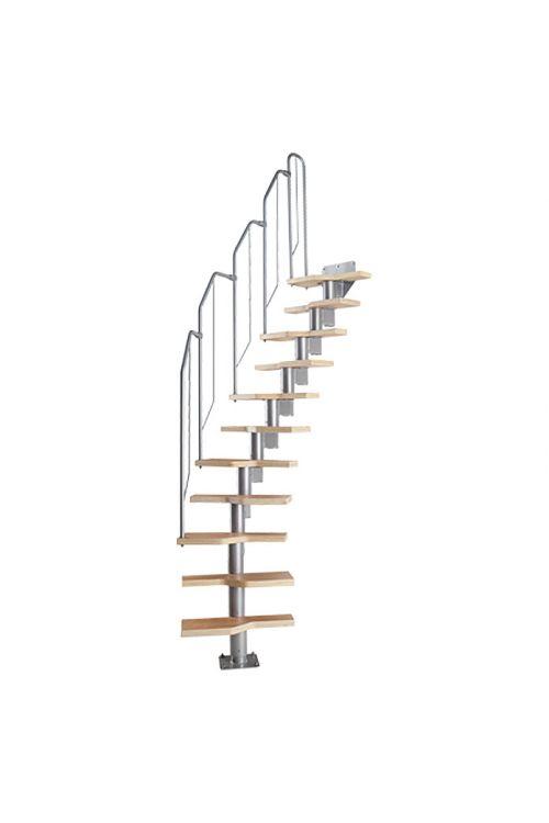 Stranske stopnice Star Stairs Athena (etažna višina: 222–276 cm, število stopnic: 12 kos)