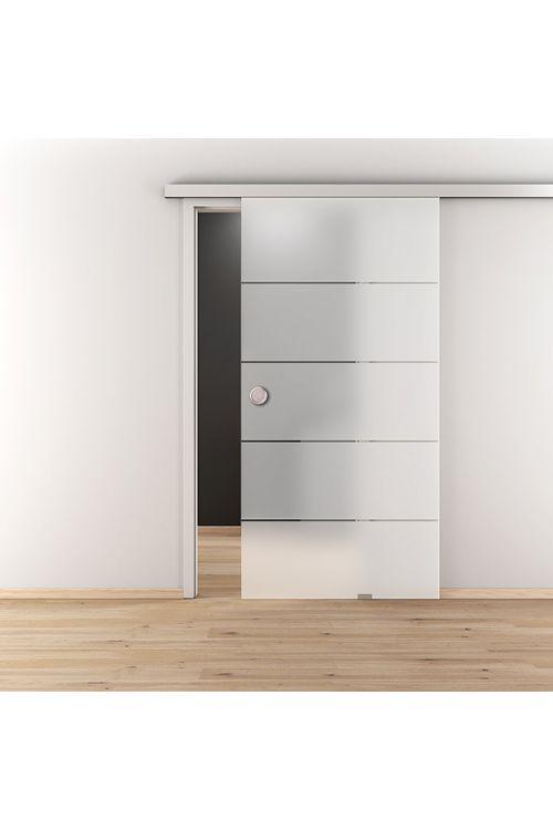 Drsna vrata DIAMOND DOORS Lines Positiv (935 x 2058 mm, kaljeno varnostno steklo (ESG))