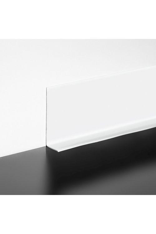 Mehka talna letev LOGOCLIC (bela, samolepilna, 10 m x 15 mm x 50 mm)