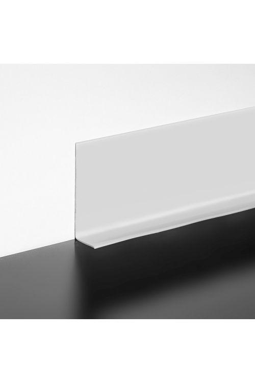 Mehka talna letev LOGOCLIC (svetlo siva, samolepilna, 10 m x 15 mm x 50 mm)