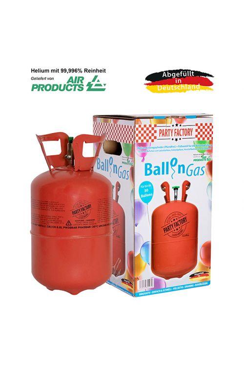 Plinska jeklenka s helijem in 30 baloni (prostornina: 0,25 m³, zadostuje za 30 balonov)