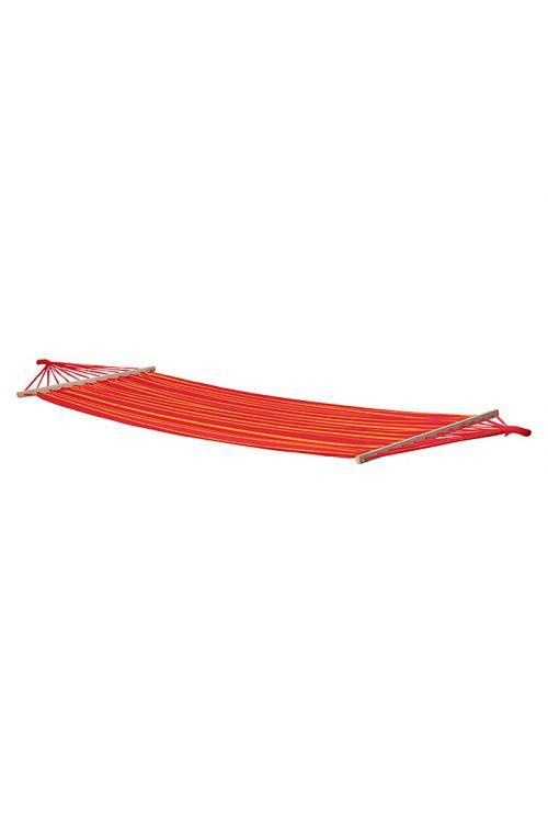 Viseča mreža  (d 200 x š 100 cm, poliester/bombaž, oranžno-rdeče barve)
