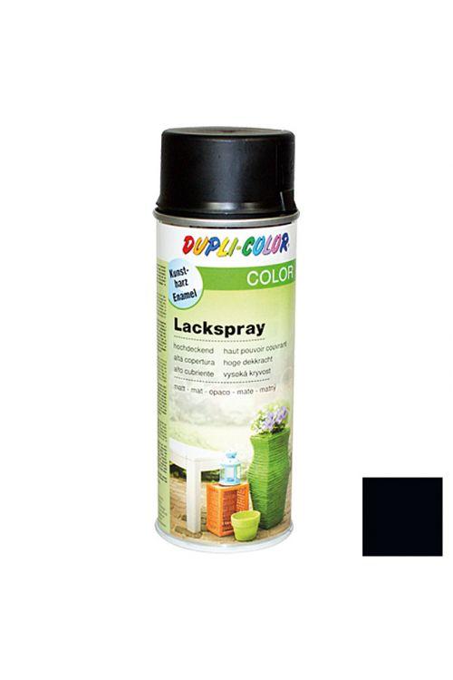 Barvni lak v razpršilu Dupli Color (400 ml, RAL 9005 intenzivno črna, mat)
