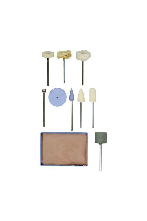 Set za poliranje Proxxon (10-delni, klobučevina, silicij, volna)