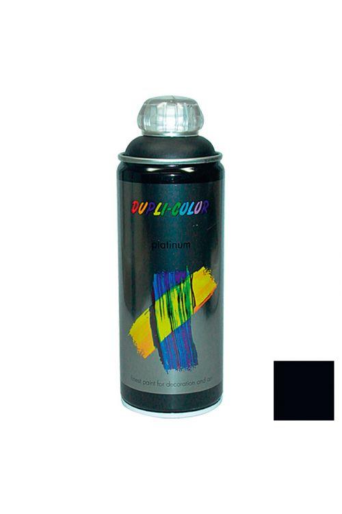 Platinasti barvni lak v razpršilu Dupli Color (400 ml, RAL 9005 intenzivno črna, svilnato mat)