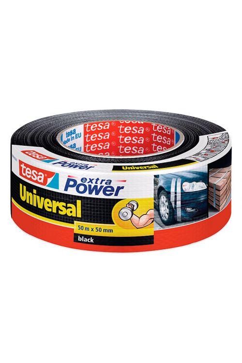 Univerzalen večnamenski trak Tesa extra Power (črn, 50 m x 50 mm)