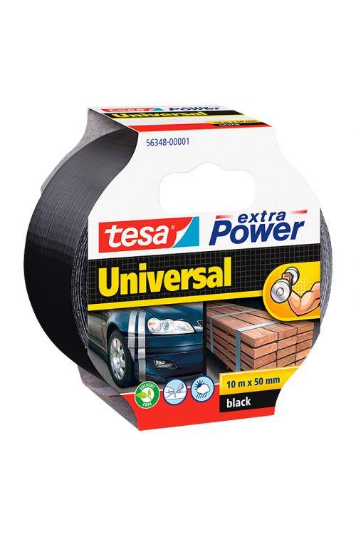Univerzalen večnamenski trak Tesa extra Power (črn, 10 m x 50 mm)