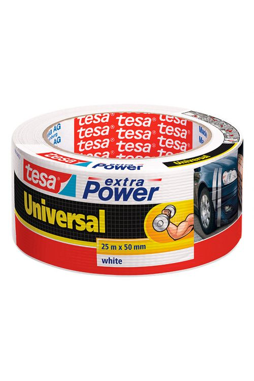 Univerzalen večnamenski trak Tesa extra Power (bel, 25 m x 50 mm)