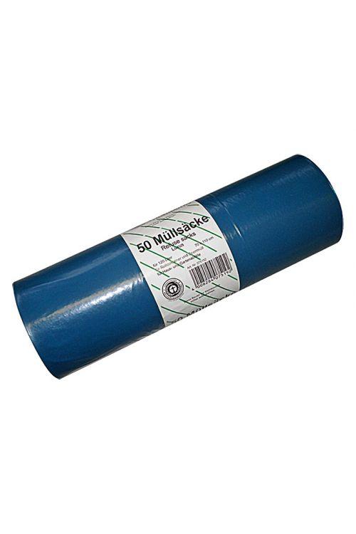 Vreče za smeti (120 l, modre, 50 kosov)
