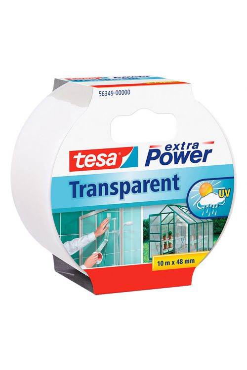 Trak za popravila Tesa extra Power (prozoren, 10 m x 50 mm)
