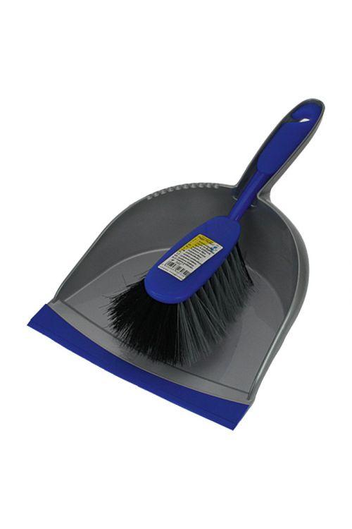 Smetišnica z metlico Starline (umetna masa, modra/srebrna)