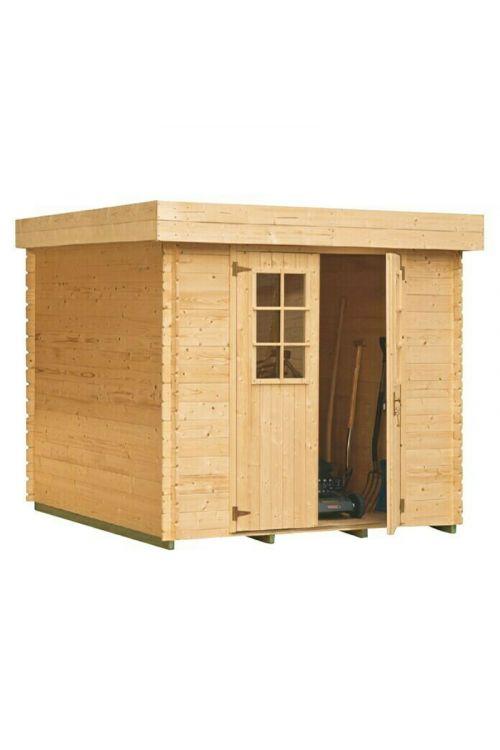Vrtna hiška Mikka (les, površina: 3,6 m², debelina stene: 19 mm, ravna streha)