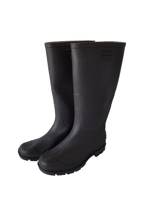 Škornji PVC (velikost čevlja: 43, visoki, črni)