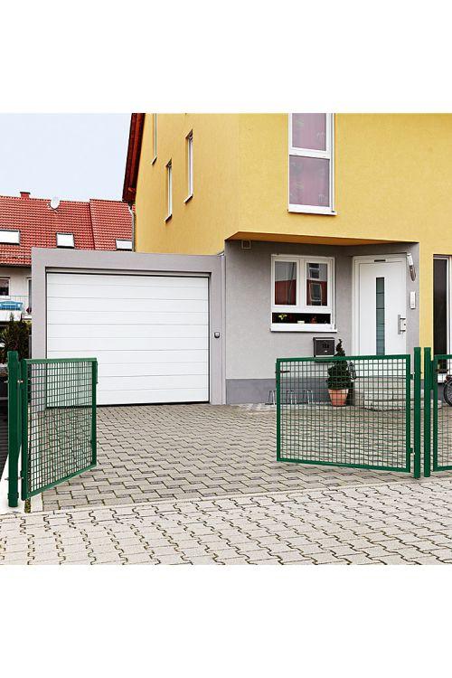 Dvojna ograjna vrata Gardenfuchs (314 x 100 cm, kovina, zelena)