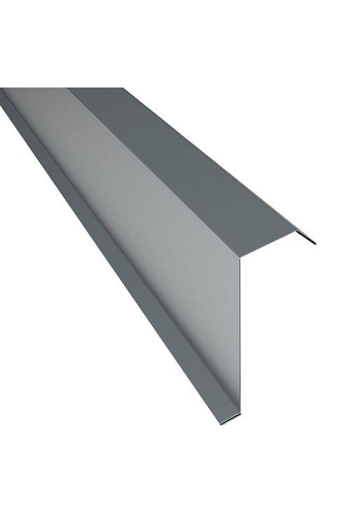 Robni kotnik PP12 (siva, dolžina: 100 cm, jeklena pločevina)