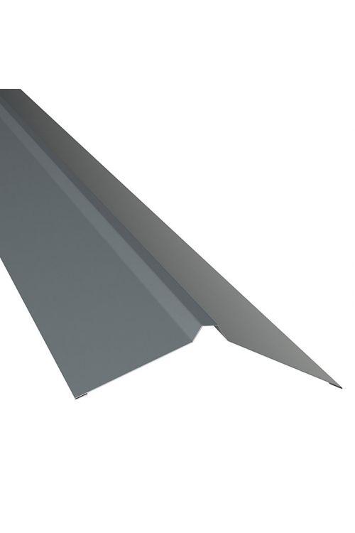 Ravno sleme PP12 (siva, dolžina: 100 cm, jeklena pločevina)