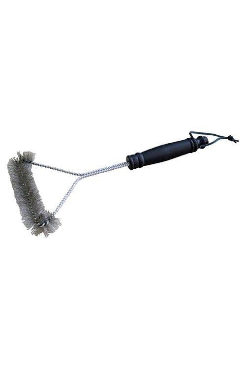 Ščetka za čiščenje žara KINGSTONE (30 cm, jeklena volna in umetna masa)