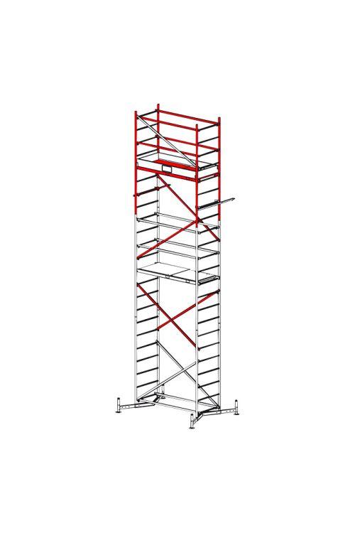 Druga nadgradnja delovnega odra KRAUSE ClimTec (delovna višina: 7 m, širina: 74 cm, nosilnost: 180 kg)