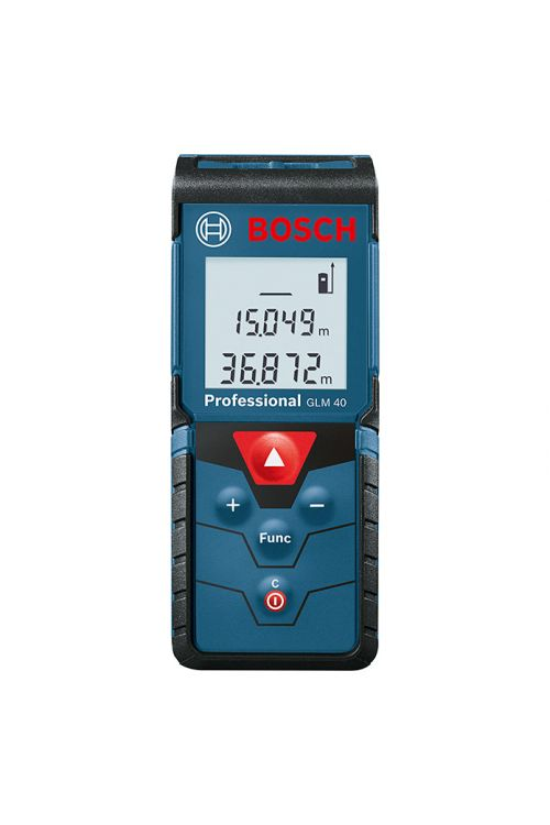 Digitalni laserski merilnik razdalj BOSCH Professional GLM 40 (natančnost: ± 1,5mm, merilno območje: 0,15–40 m)