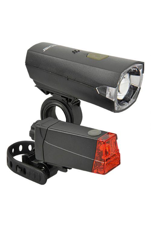 Komplet svetilk na baterije, Fischer (LED-sijalka, 12 luksov (prednja svetilka))
