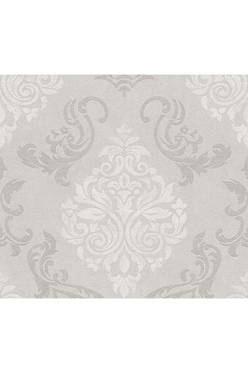 Tapeta iz netkane tekstilije Memory 2 (bež/kremasta/kovinska, ornament, 10,05 x 0,53 m)