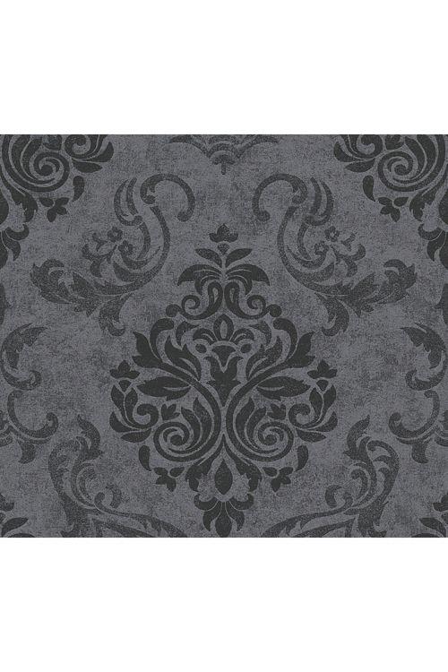 Tapeta iz netkane tekstilije Memory 2 (črna, ornament, 10,05 x 0,53 m)