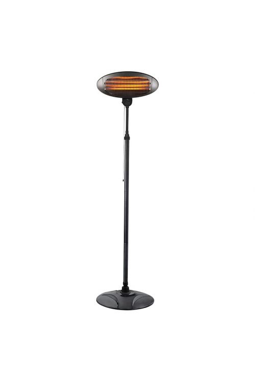 Kremenasti grelnik za teraso Voltomat Heating (2000 W, višina: 200 cm, črna)