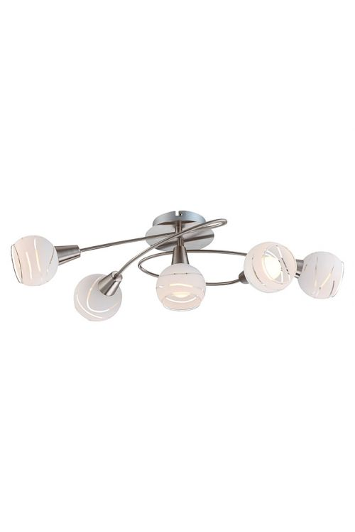 Stropna svetilka Globo Elliott (5 x 4 W, 62,5 x 37 x 21 cm, toplo bela svetloba)