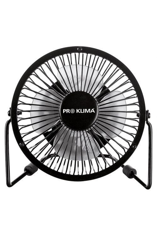 Namizni ventilator Proklima (črn, premer: 15 cm, 2,3 W)