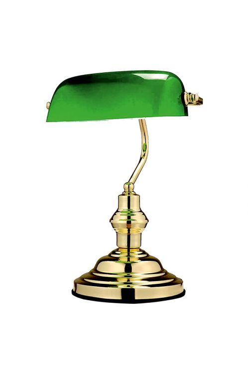 Namizna svetilka Globo Bankers Lamp (60 W, višina: 36 cm, E27, medenina)