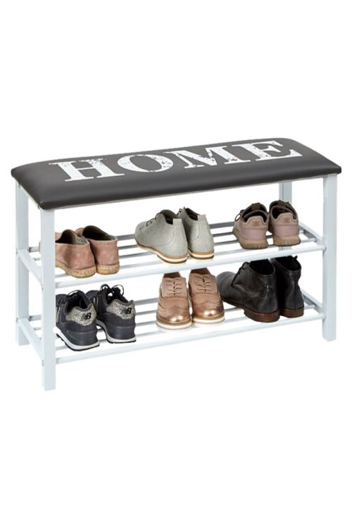 Stojalo za čevlje s klopjo Home (78 x 30 x 48 cm)