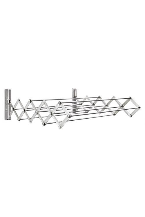 Stenski sušilnik perila Ready (dolžina vrvi za obešanje perila: 3,8 m, srebrn, širina: 60 cm)