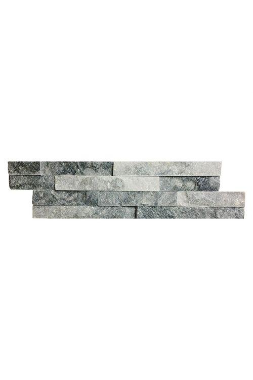 Stenska obloga Cloud (10 x 40 cm, belo-siva, naravni kamen)