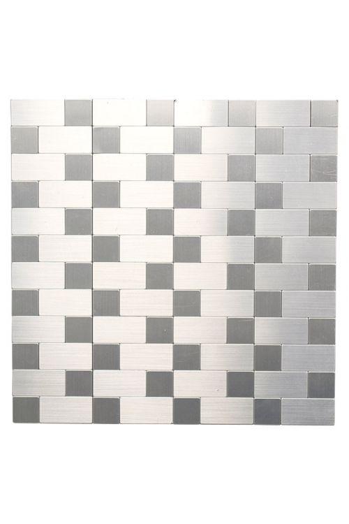 Samolepljiv mozaik SAM 4MM87 (30,5 x 30,5 cm, kovina, srebrna)